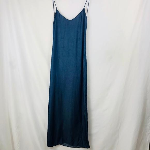 438db96b Zara Dresses   Denim Maxi Shirt Dress Sz S   Poshmark